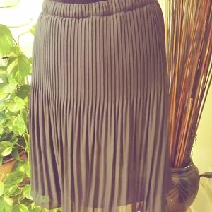 Allison Taylor Pleated Black skirt